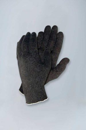 Black string knit gloves dozen mens womens