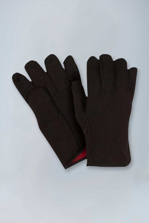 Extra heavy weight lined brown jersey gloves