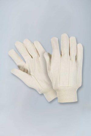 Heavy weight cotton canvas knitwrist gloves
