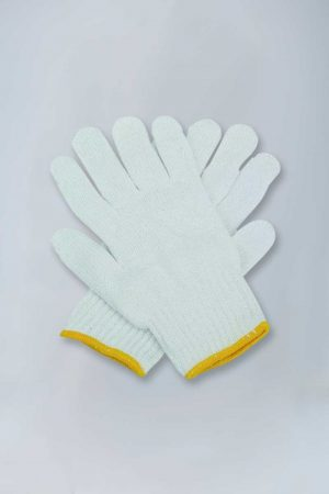 Ladies string knit gloves - medium weight