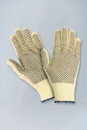 Para-aramid cut resistant gloves with pvc dots